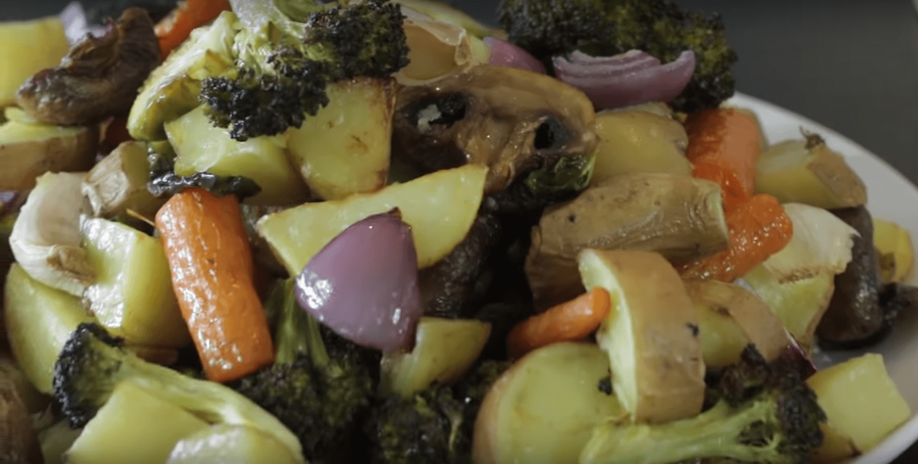 Roasted Vegetables. | Photo: YouTube/Marlon Doll