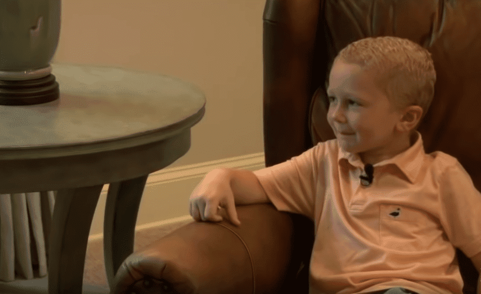 Gray Forrester pictured at home. | Photo: YouTube/WBIR