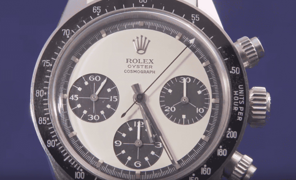 The 1971 Rolex Oyster Cosmograph owned by the Air Force veteran. | Photo: YouTube/Antiques Roadshow PBS