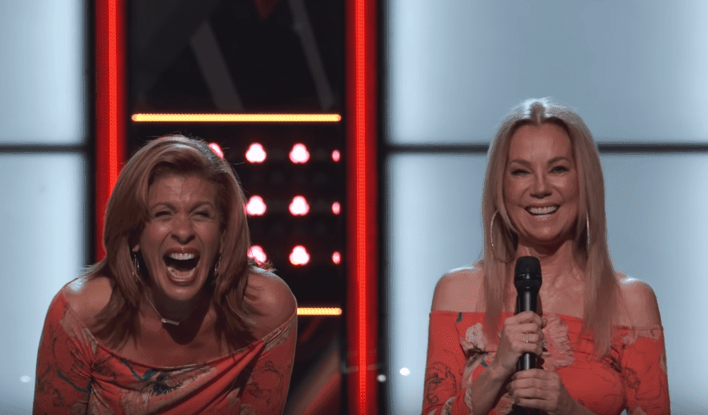 "Hoda Kotb and Kathie Lee Gifford during the blind audition of ""The Voice"" in 2018 