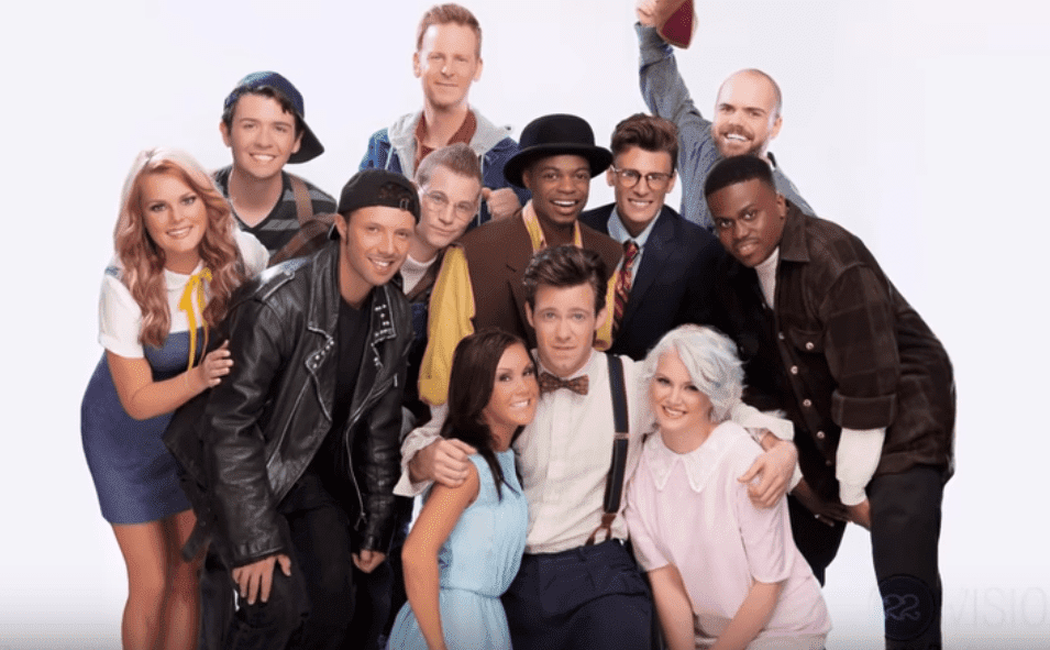 """The casts of """"The Little Rascals"""" during their 20th Reunion in 2014. 