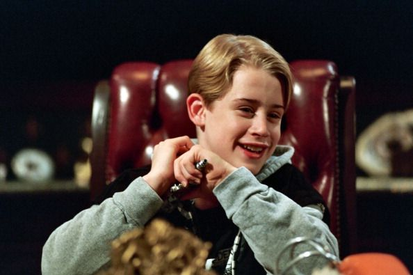 """Macaulay Culkin on the set of """"Richie Rich"""" in Los Angeles, CA, United States. 