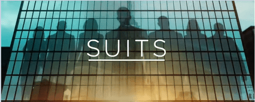"""Title card for the US TV show """"Suits."""" 