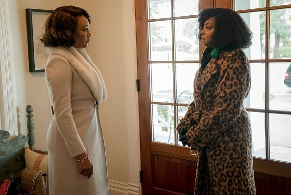 "Guest star Vivica A. Fox and Taraji P. Henson in the ""Master of What is Mine Own"" episode of EMPIRE- Season Five 