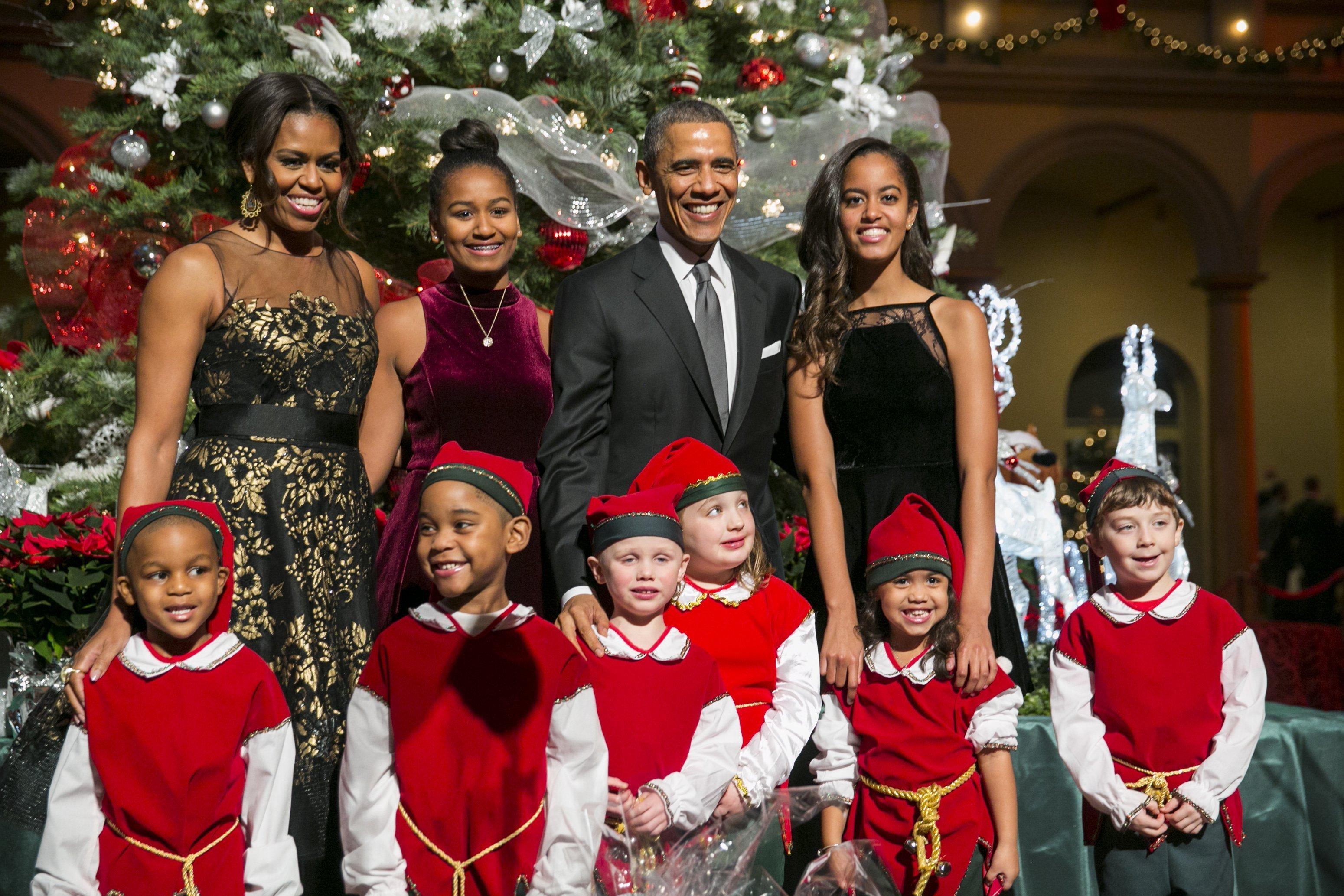 The Obamas at the 'Christmas in Washington' program on Dec. 14, 2014 in Washington, DC. | Photo: Getty Images.