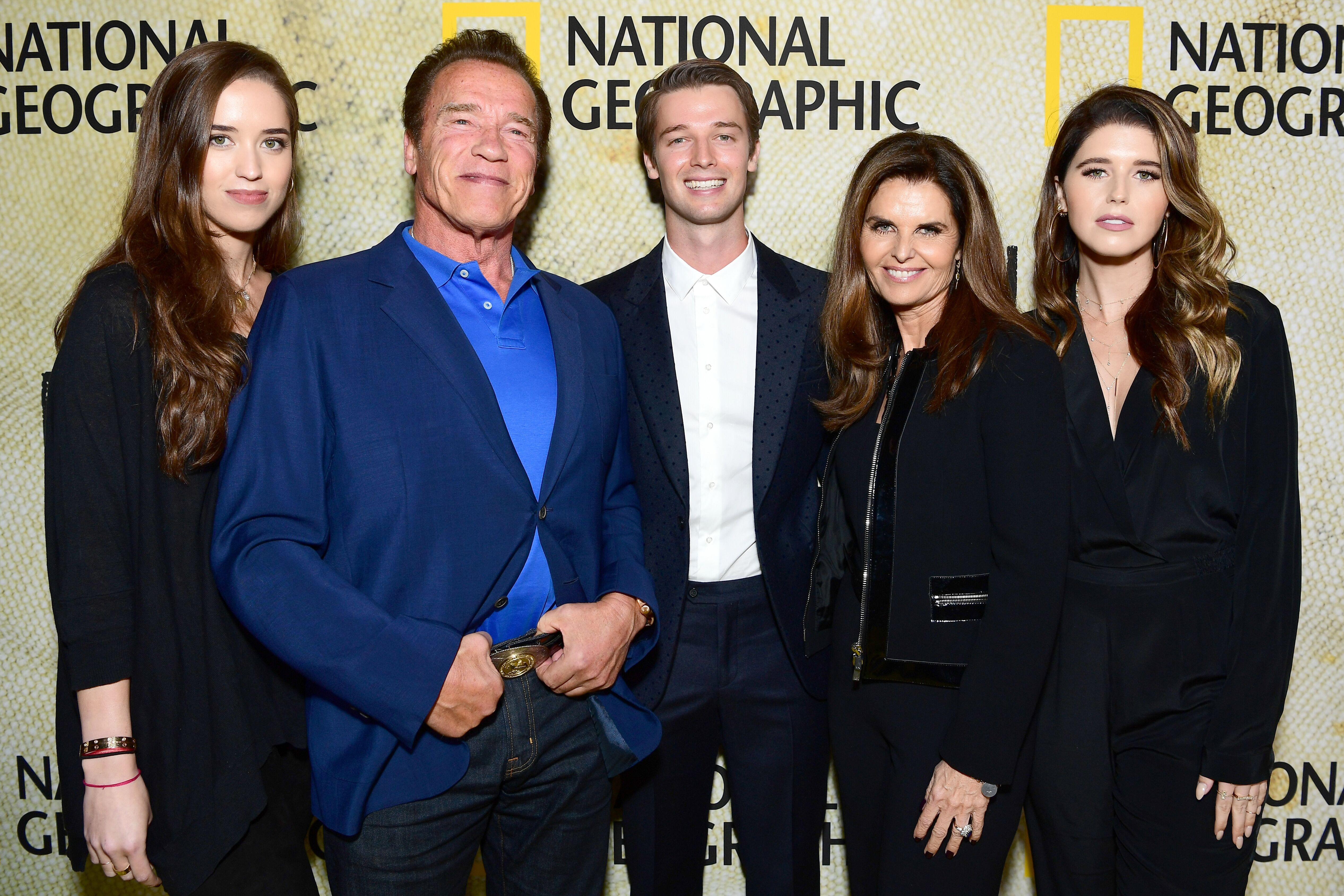 Arnold Schwarzenegger and Maria Shrivers attend the premiere of National Geographic's The Long Road Home. | Source: Getty Images