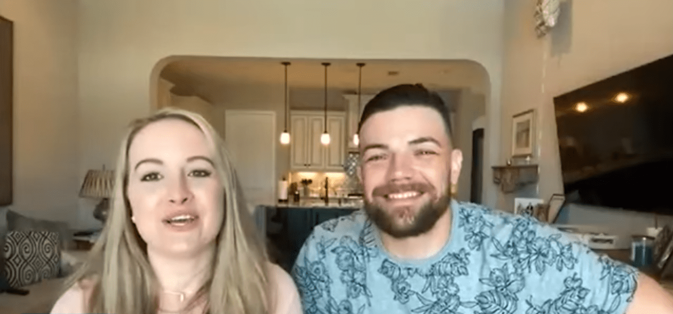 """90 Day Fiancé: Happily Ever After?"" reality show couple, Andrei and Elizabeth discussing their relationship 