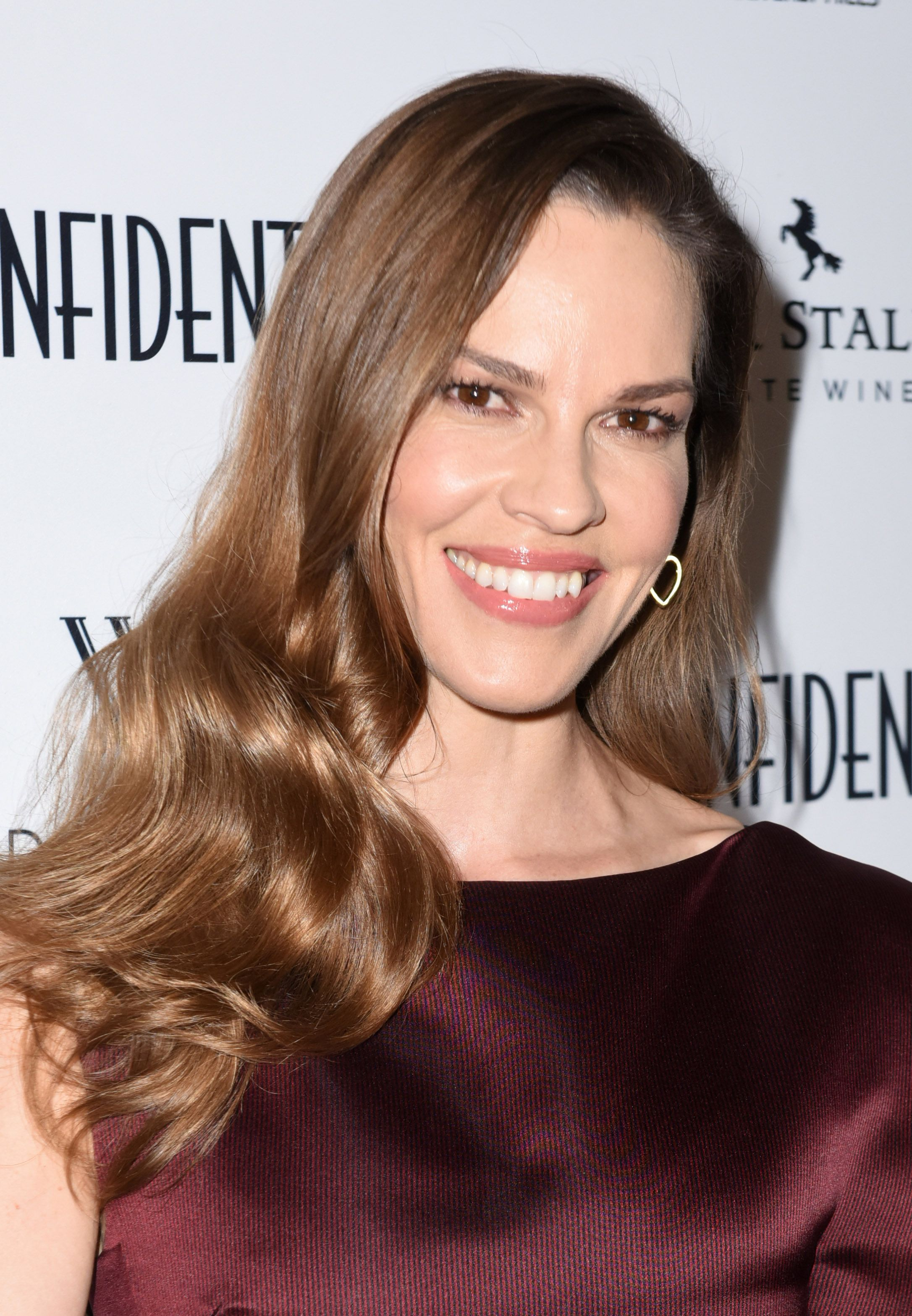 Hilary Swank at Waldorf Astoria Beverly Hills on April 12, 2018 in Beverly Hills, California.   Photo: Getty Images