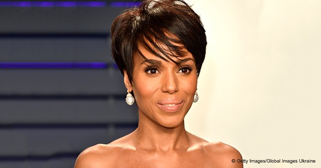 Kerry Washington Debuted Chic Bob and Flaunted Curves in Sheer Dress at Vanity Fair Oscars Party