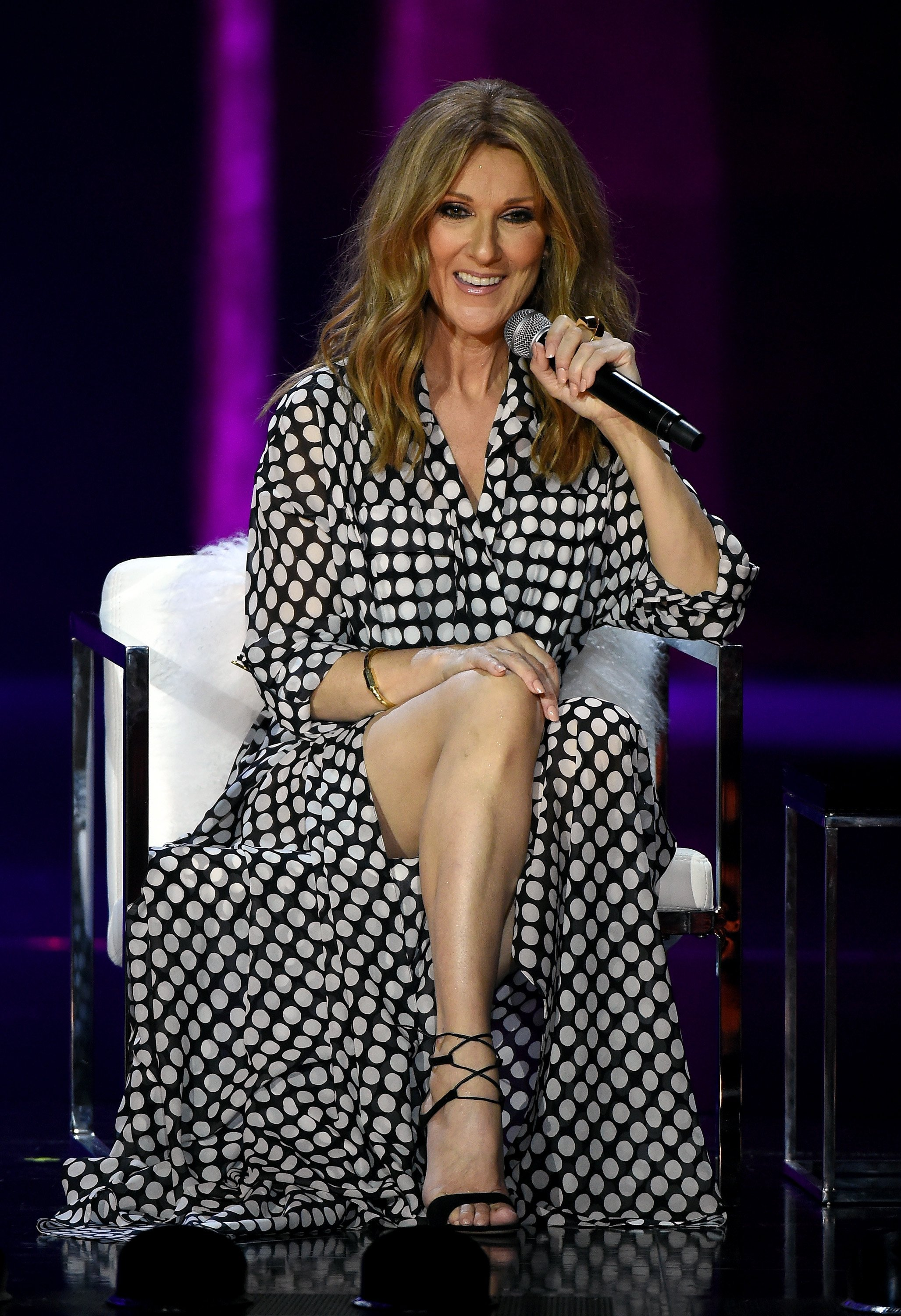 Celine Dion speaks at a news conference at The Colosseum at Caesars Palace on August 27, 2015 | Photo: Getty Images