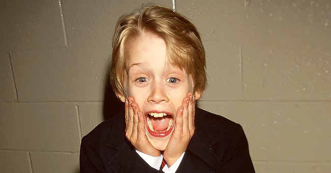 Actor Macaulay Culkin making face like his Home Alone character on  January 01, 1991 | Photo: Getty Images