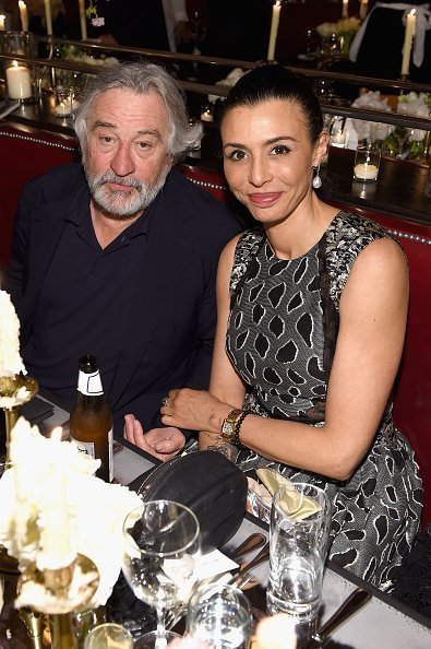 Robert De Niro and Drena De Niro at the CHANEL Tribeca Film Festival Artists Dinner on April 24, 2017 | Photo: Getty Images