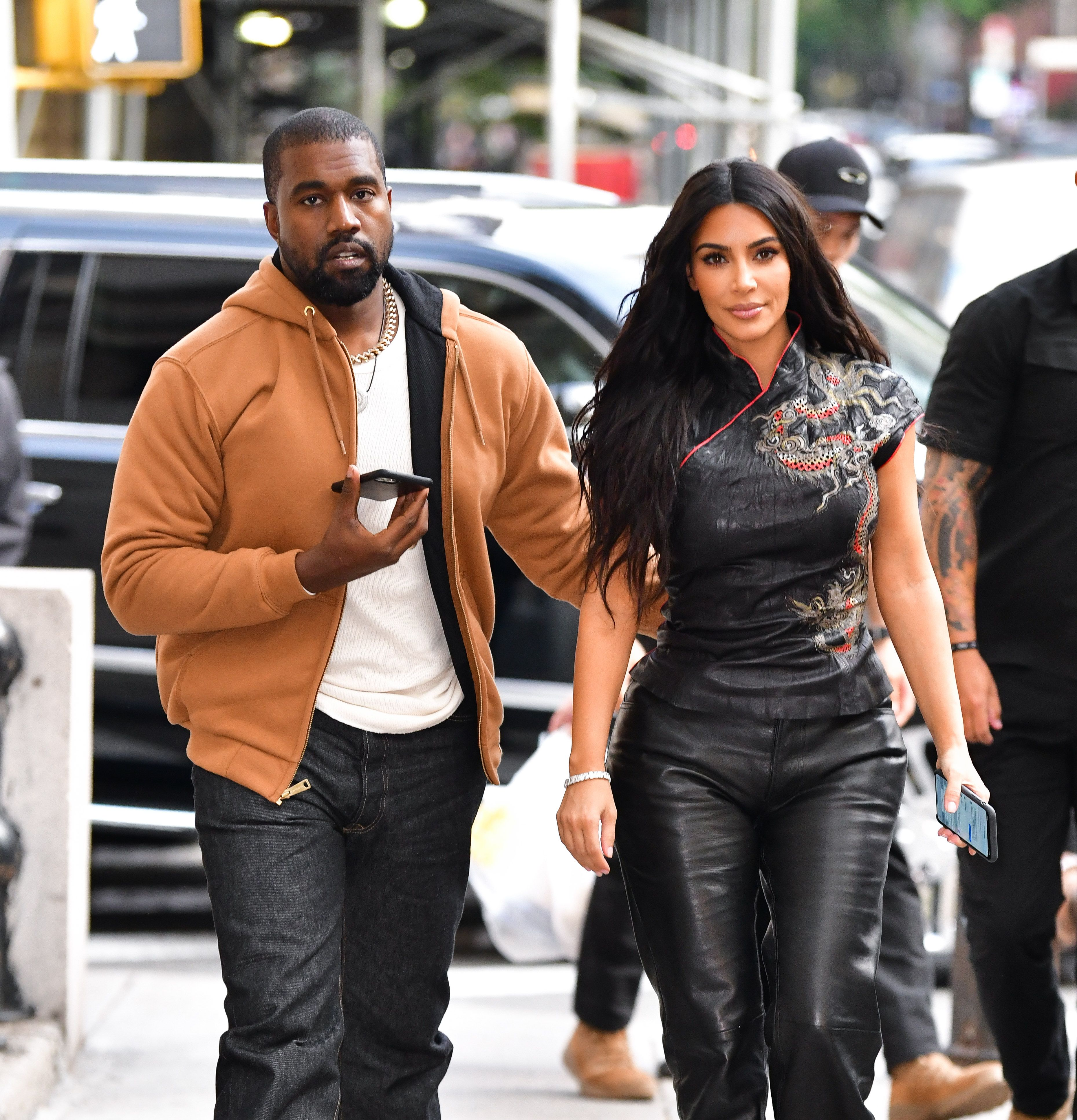 Kanye West and Kim Kardashian West visit Dover Street Market on October 25, 2019 in New York City. | Source: Getty Images