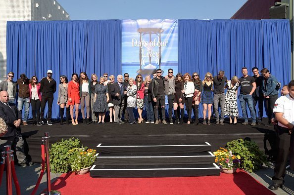 """Group shot of the cast of """"Days Of Our Lives"""" at NBC's """"Days Of Our Lives"""" Day Of Days fan event at Universal CityWalk on November 10, 2018 in Universal City, California 