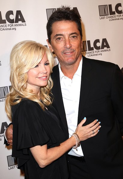 Renee Sloan and actor Scott Baio at The Beverly Hilton Hotel on October 14, 2017 | Photo: Getty Images