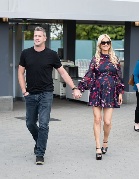"""Ant Anstead and Christina Anstead visited """"Extra"""" at Universal Studios Hollywood on May 22, 2019 in Universal City, California.