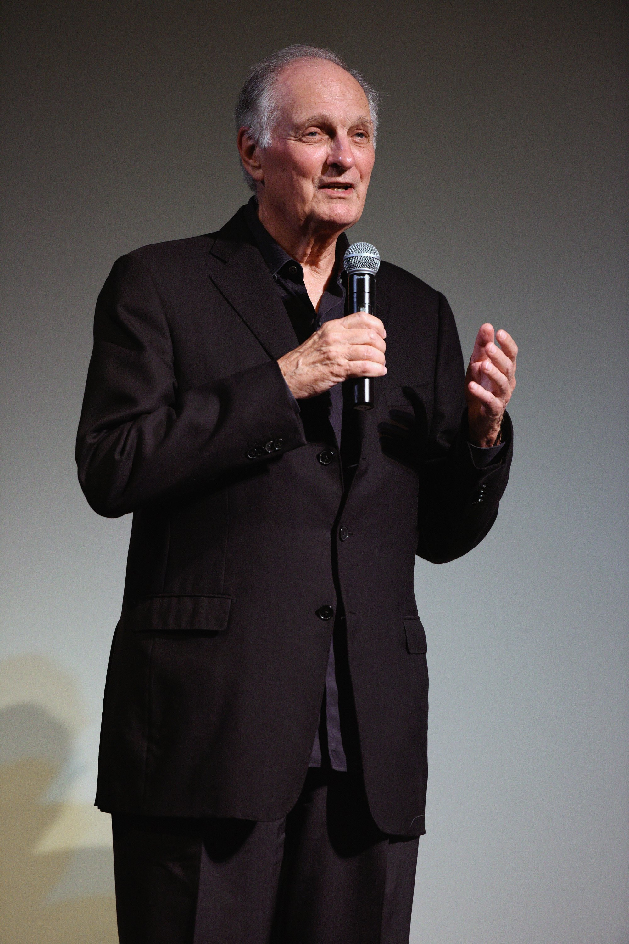 "Alan Alda speaks onstage at ""Bridge of Spies"" at the Annual Hamptons International Film Festival in East Hampton, New York on October 12, 2015 