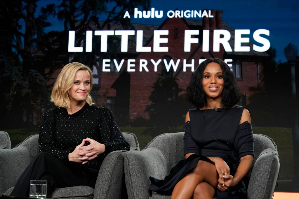 Reese Witherspoon and Kerry Washington spoke onstage during the Hulu Panel at Winter TCA 2020 on January 17, 2020 in Pasadena, California | Photo: Getty Images