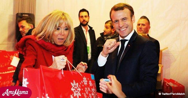 Emmanuel et Brigitte Macron ont fait un vrai miracle pour les enfants lors du Noel de l'Elysée (photos)
