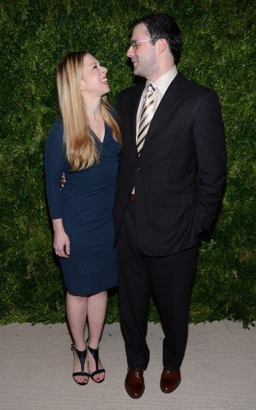 Chelsea Clinton and Marc Mezvinsky attend The Ninth Annual CFDA/Vogue Fashion Fund Awards at 548 West 22nd Street on November 13, 2012, in New York City.   Source: Getty Images.