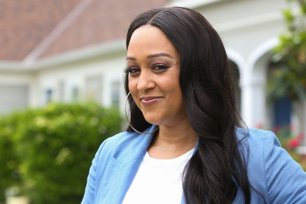 """Tia Mowry visits Hallmark's """"Home & Family"""" at Universal Studios in May 2019 