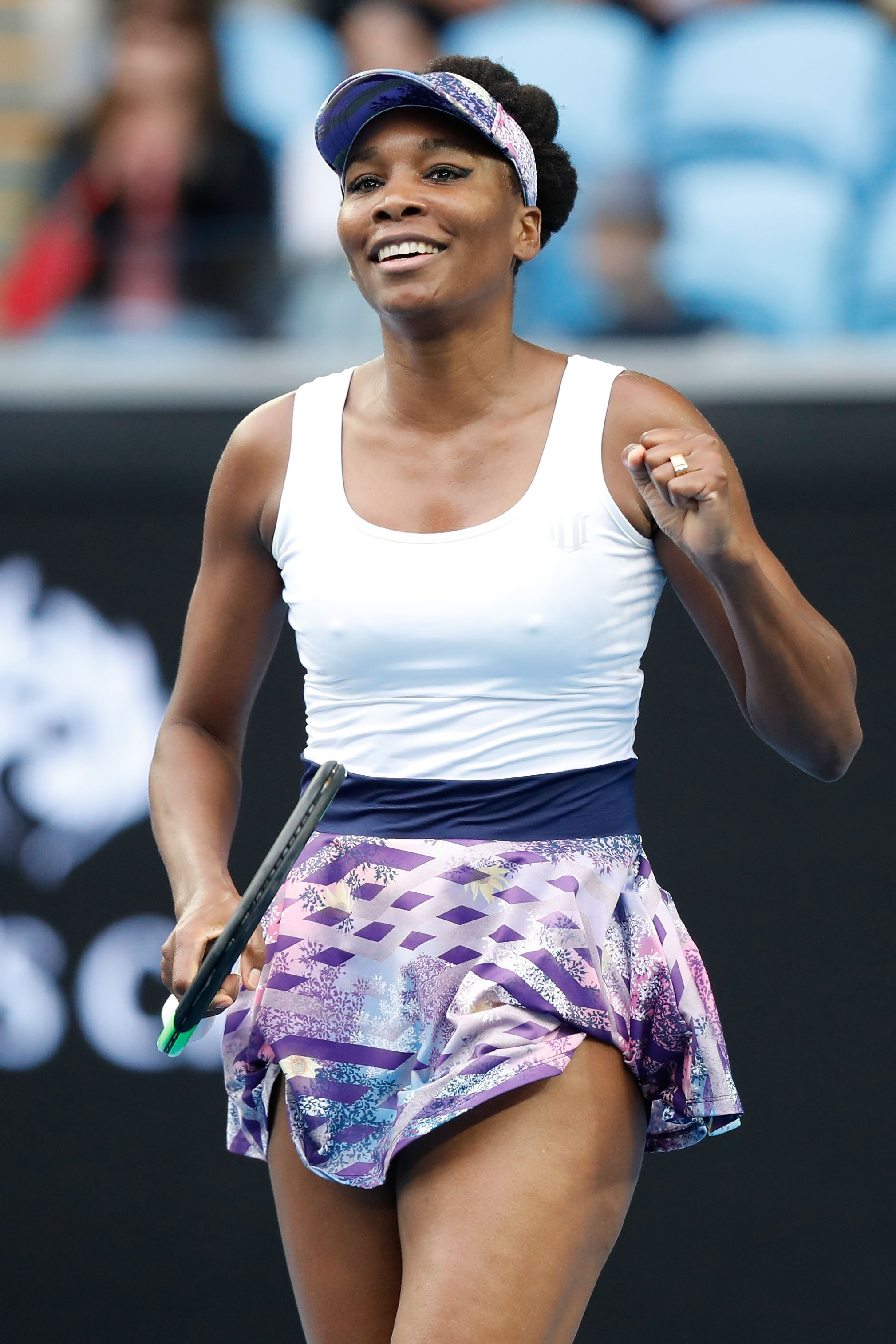 Venus Williams at the 2017 Australian Open at Melbourne Park on January 20, 2017 in Melbourne, Australia.| Source; Getty Images