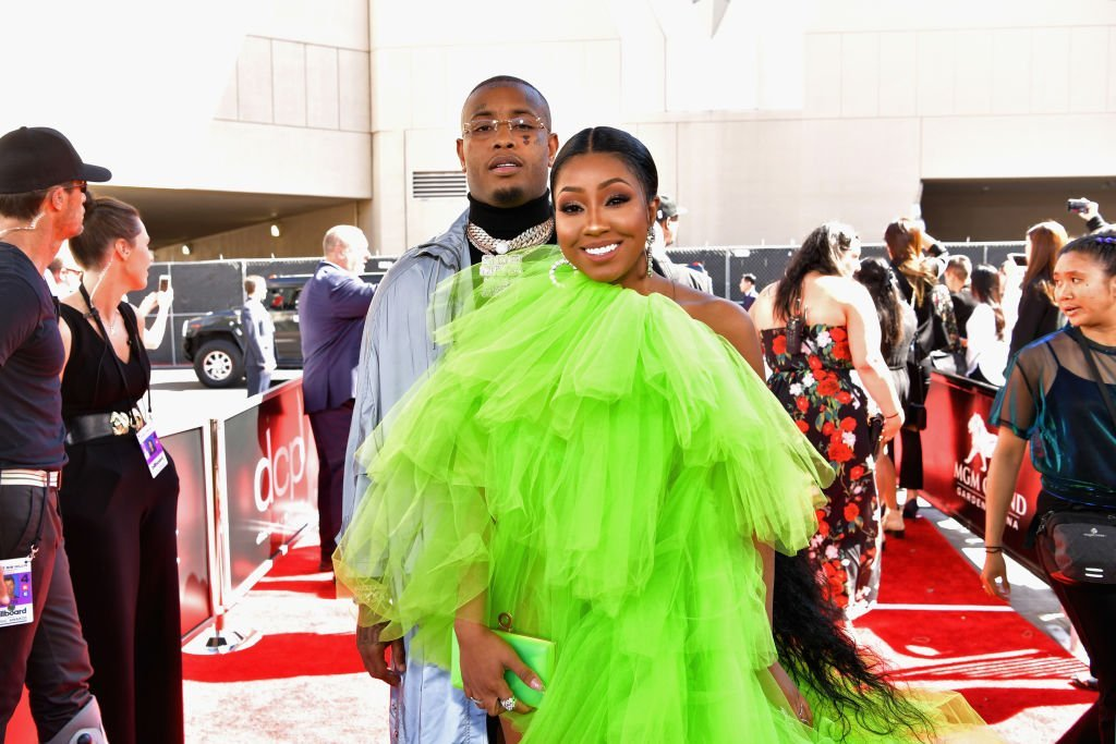 New parents Southside and Yung Miami at the 2019 Billboard Music Awards in May.   Photo: Getty Images