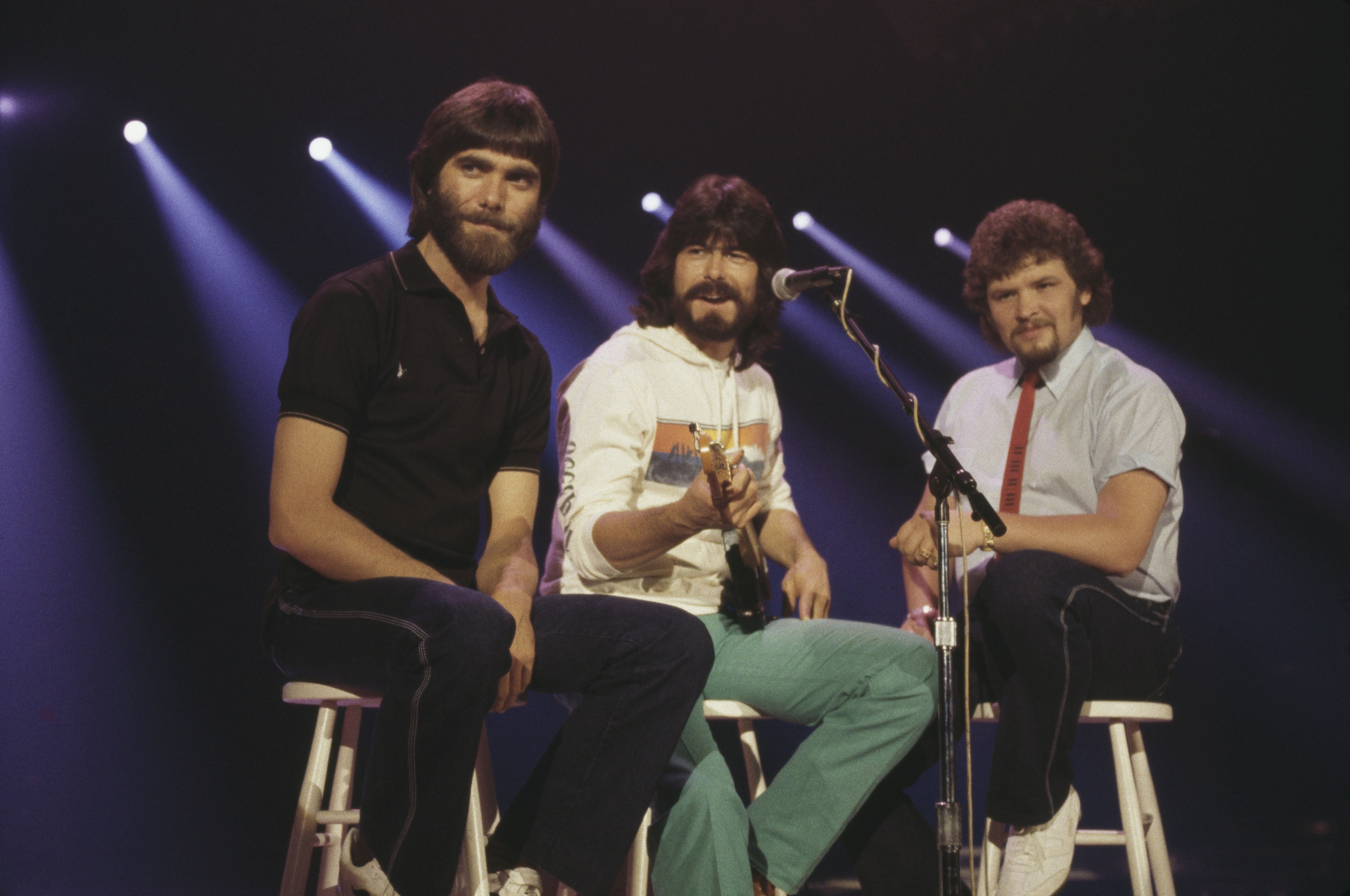 Alabama (Randy Owen, Teddy Gentry and Jeff Cook), U.S. country music band, pose for a portrait on January 01, 1980 | Photo: Getty Images