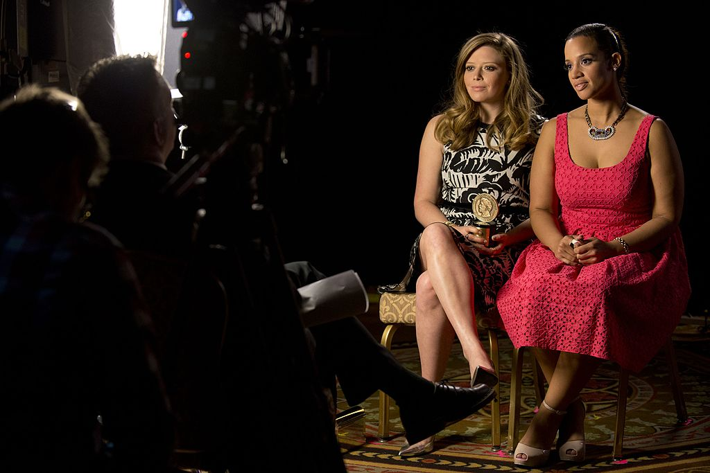 "Natasha Lyonne and Dascha Polanco during a Peabody interview for ""Orange is the New Black."" 
