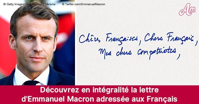 Découvrez le contenu de la lettre d'Emmanuel Macron adressée aux Français