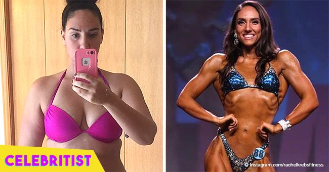 Obese mom-of-two drops 100 lbs and transforms her body to become a bodybuilder