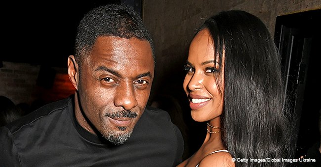 Idris Elba's fiancee shares romantic pic of the couple on the beach, shows off her Valentine's gift