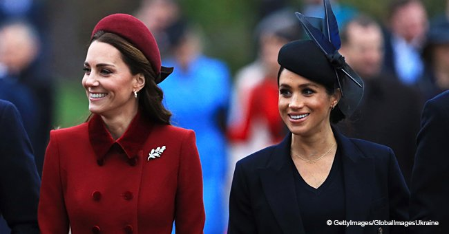 Meghan Markle y Kate Middleton aparecen juntas en público por primera vez desde Navidad
