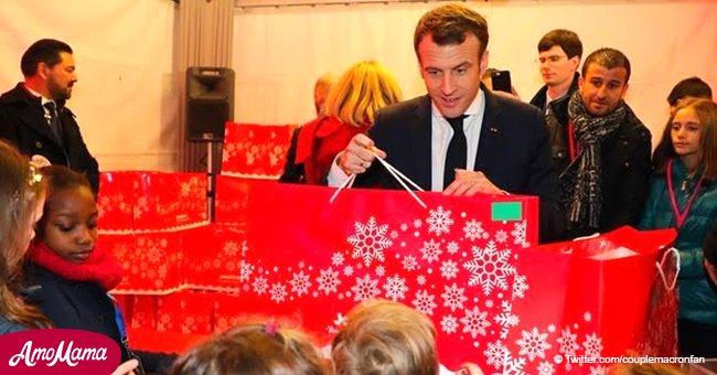 Brigitte et Emmanuel Macron ont invité deux invités inattendus à surprendre des enfants pour Noël