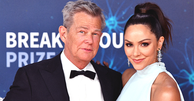 David Foster's Wife Katharine McPhee Flaunts Her Flat Tummy in Red Swimsuit after Her Husband's 70th Birthday