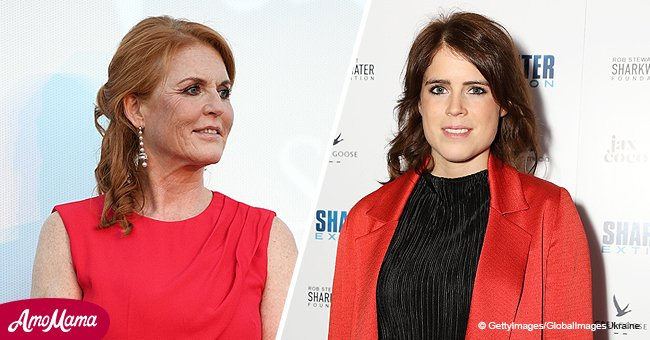 Princess Eugenie shared a pic taken years ago of her and adorable mom Sarah enjoying the snow