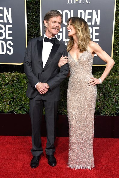 William H. Macy (L) and Felicity Huffman attend the 76th Annual Golden Globe Awards at The Beverly Hilton Hotel on January 6, 2019, in Beverly Hills, California. | Source: Getty Images.