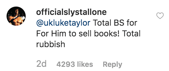 "Sylvester Stallone responds to a fans question about allegations in `Elton John's memoir, ""Me,"" that he had a with Richard Here over Princess Diana 