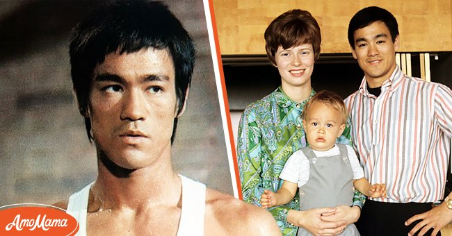 American martial artist Bruce Lee with his wife and son. | Photo: Getty Images