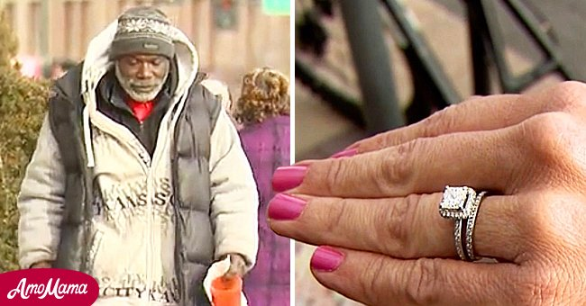 A man on the street and an engagement ring   Source: Shutterstock
