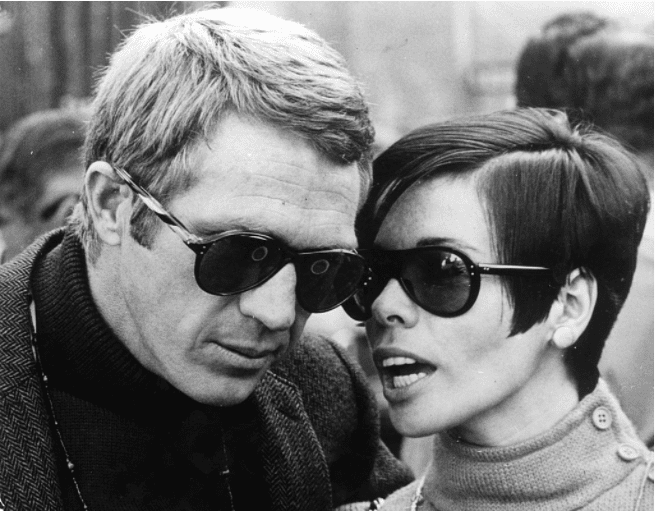 Actor Steve McQueen with his first wife Neile Adams in San Francisco in 1968. l Source : Getty Images