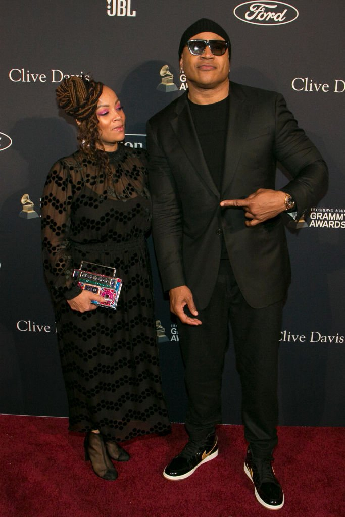 """LL Cool J (R) and Simone Smith attend the Pre-Grammy Gala and Grammy Salute to Industry Icons Honoring Sean """"Diddy"""" Combs  Photo: Getty Images"""