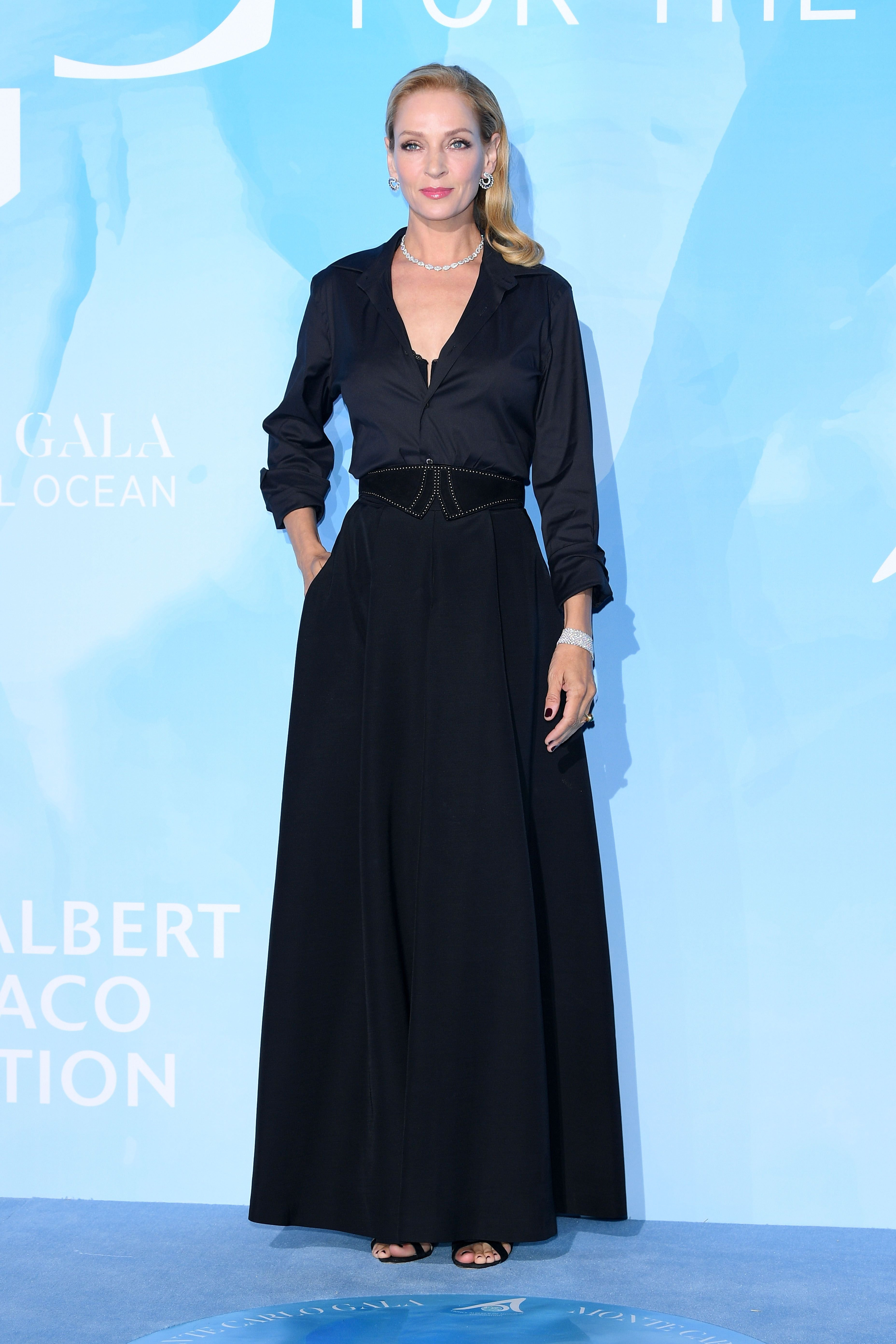 Uma Thurman attends the Gala for the Global Ocean.   Source: Getty Images