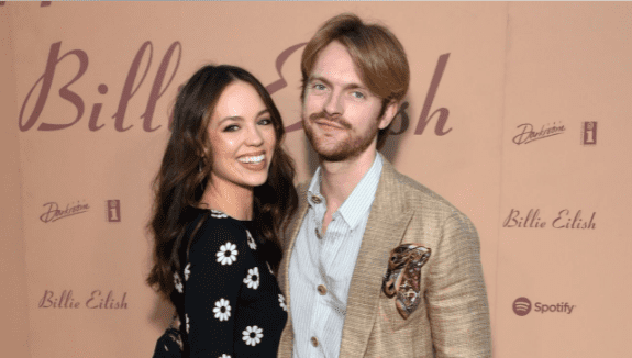 """Claudia Sulewski and Finneas attend the """"Happier Than Ever: The Destination"""" celebration on July 29, 2021 in Los Angeles, California 