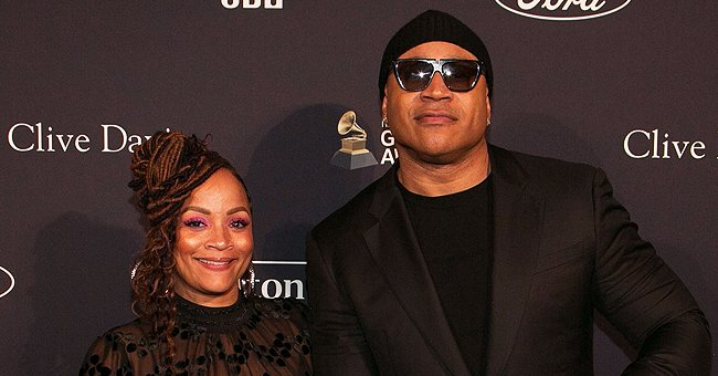 LL Cool J's Daughter Nina Shows Her Beautiful Mom Posing in a White Ensemble with Chic Makeup