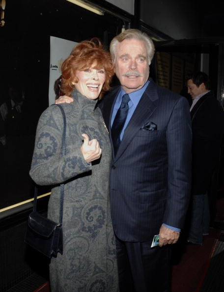"Jill St. John and Robert Wagner attend the premiere performance of ""Legends"" on January 16, 2007, at the Wilshire Theatre in Beverly Hills, California. 