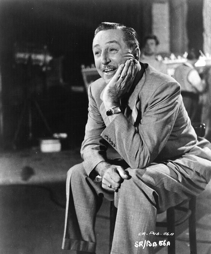 "Walt Disney during a visit to England for the filming of ""The Sword And The Rose."" 