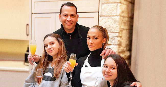 Jennifer Lopez from 'Hustlers' Shares Thanksgiving Photos with Her Fiancé Alex Rodriguez and Their Children