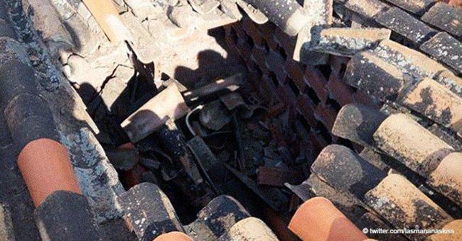 ¿Meteorito? ¿OVNI? Objeto luminoso desconocido destruye el tejado de una casa en Granada
