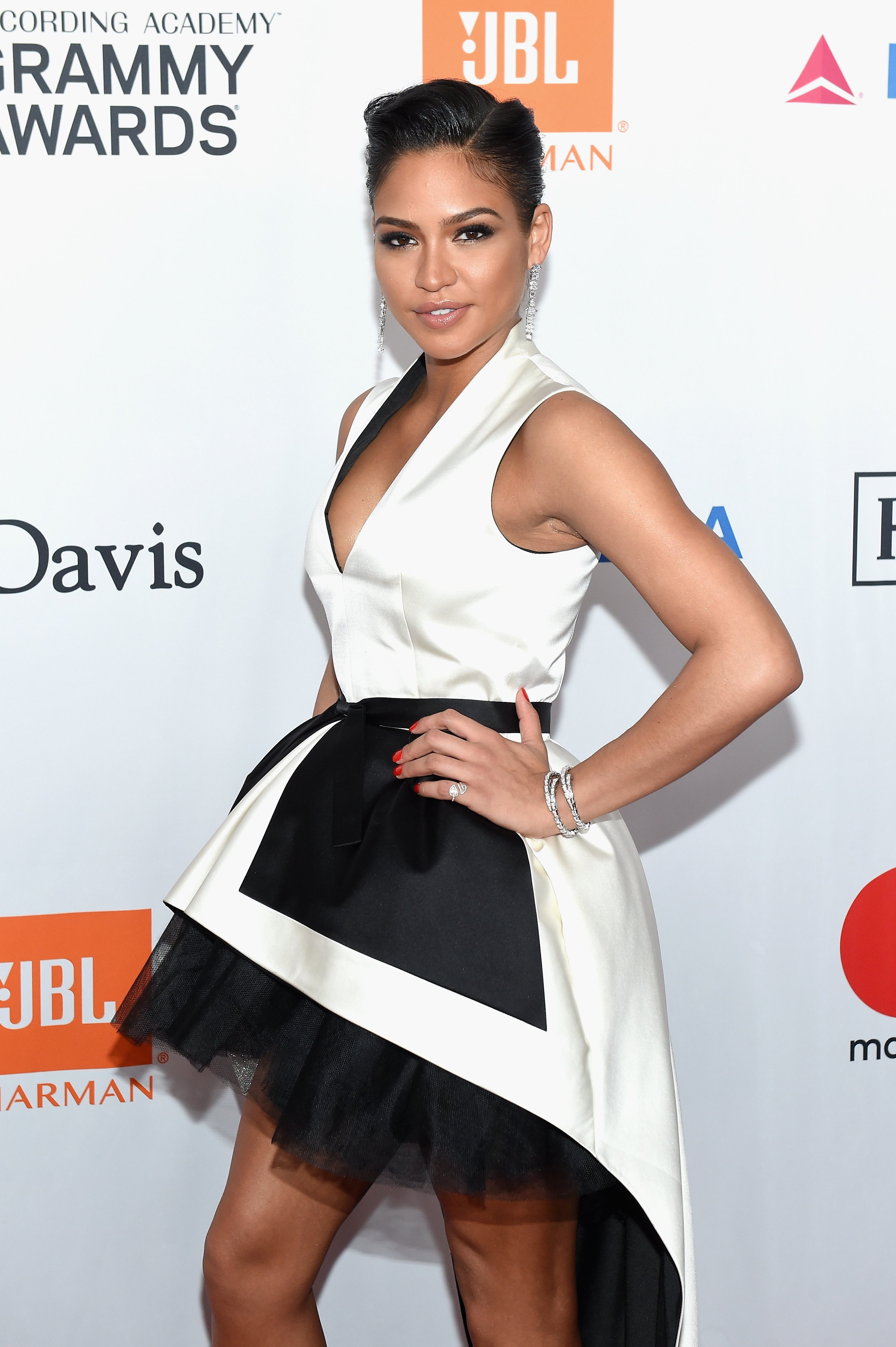 Cassie at the Clive Davis and Recording Academy Pre-GRAMMY Gala and GRAMMY Salute to Industry Icons in New York City on Jan. 27, 2018 | Photo: Getty Images